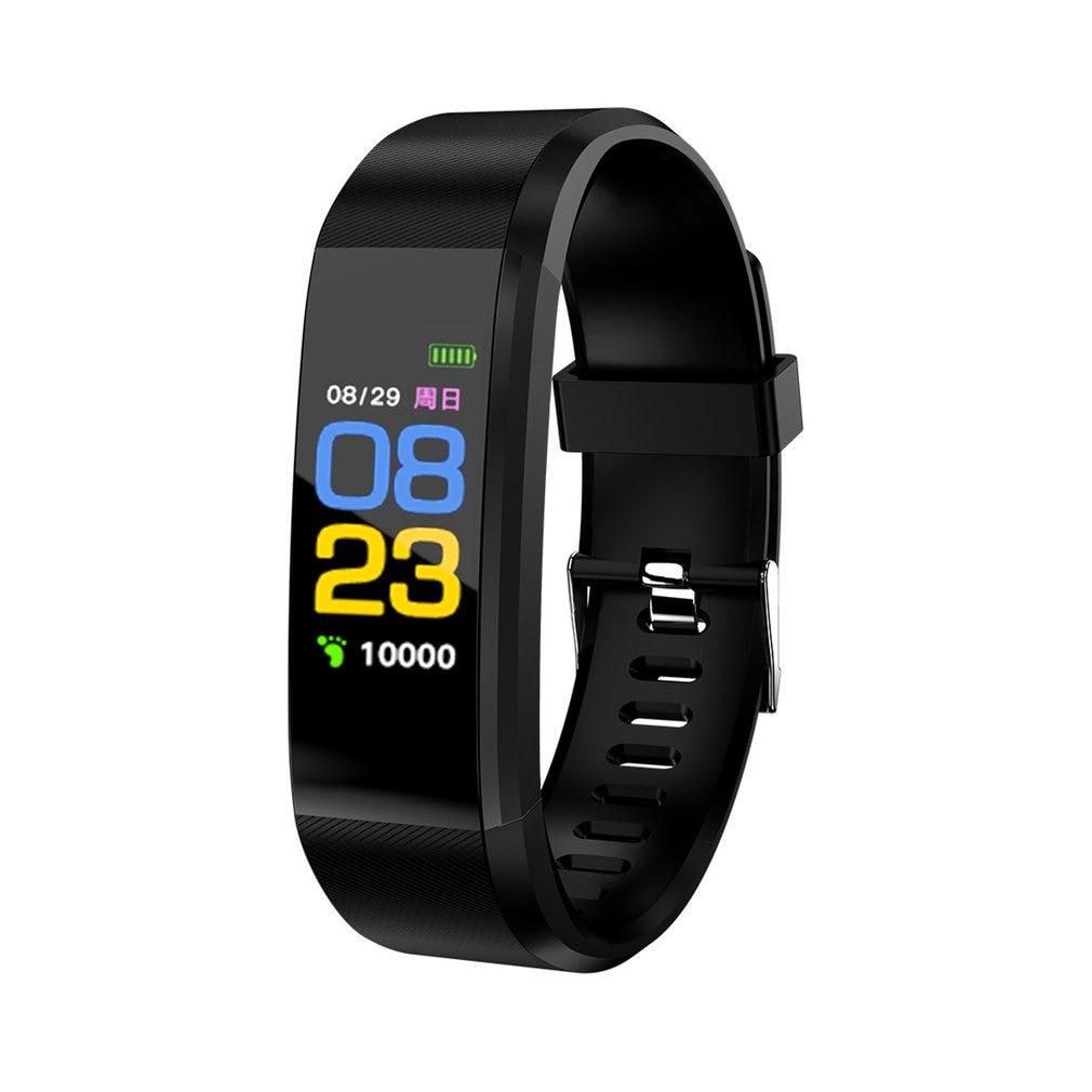 115 Plus reloj inteligente Bluetooth Monitor de ritmo cardíaco reloj deportivo inteligente pulsera de seguimiento pulsera inteligente a prueba de agua