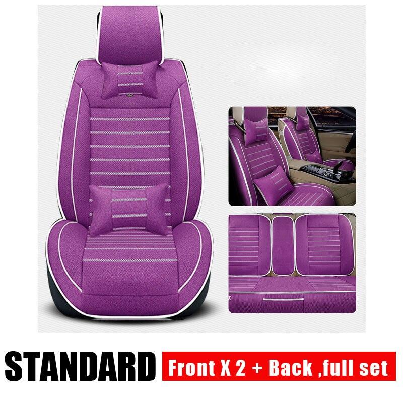 Cubiertas universales de asiento de coche de lino para Cadillac SLS ATSL CTS XTS SRX CT6 ATS Escalade, accesorios de coche, pegatina de estilo