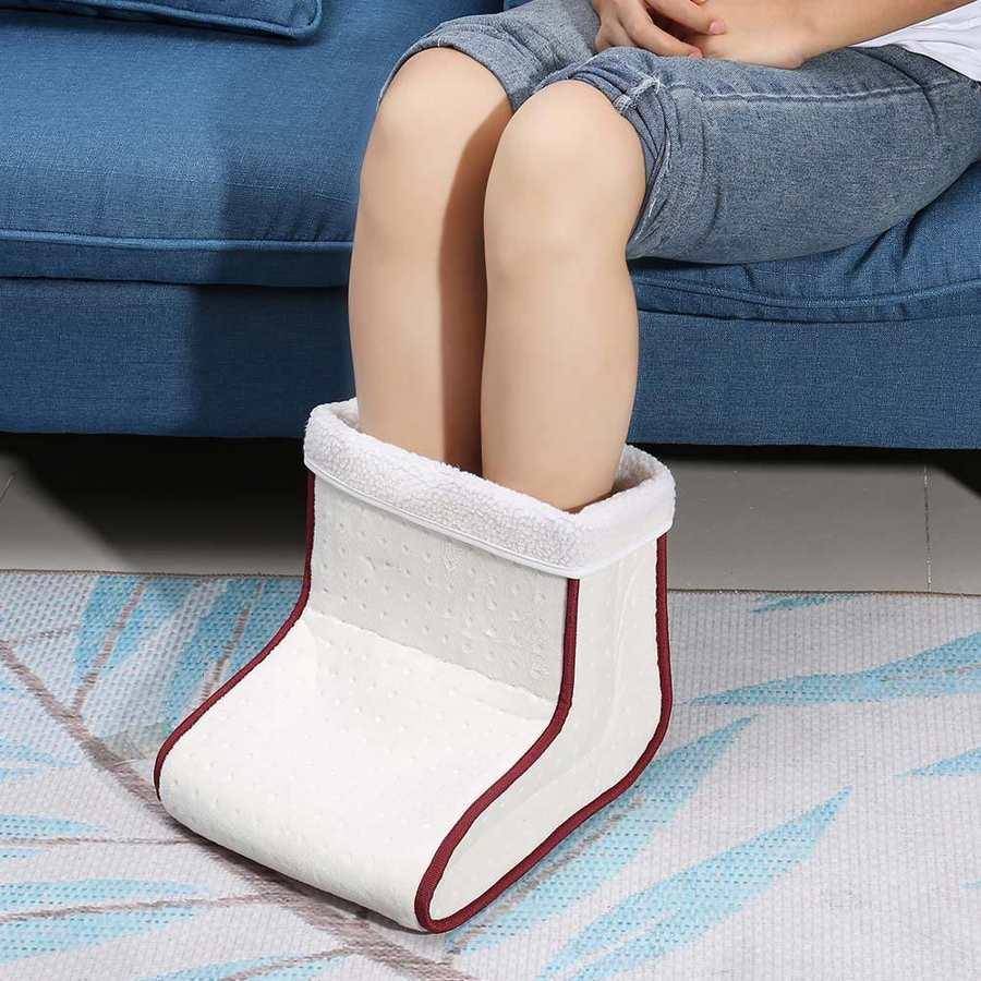 دفاية قدم كهربائية ، 5 أوضاع ، درجات حرارة ، قابلة للإزالة ، شتوية ، أحذية ، مدلك