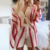 muyogrt oversized knitted long sleeve cardigans autumn winter red stripe loose casual sweater fashion streetwear y2k women tops