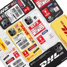 Étui pour iphone souple Dhl Express 11 Pro X Xs Max Xr 8 7 6 6s Plus couverture de téléphone en Silicone mat 50th anniversaire Coque Fundas