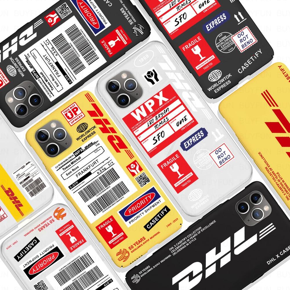 ¡Oferta! funda suave Dhl Express para Iphone 11 Pro X Xs Max Xr 8 7 6 6s Plus, funda mate de silicona para teléfono, Fundas de 50 aniversario