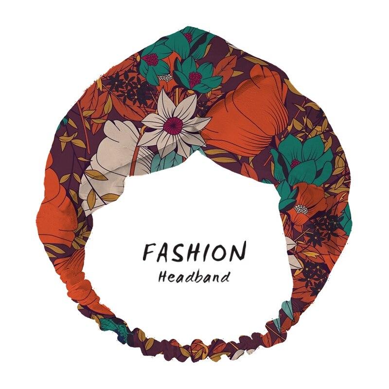 2020 Women Hair Accessories Hair Bands Summer flower field Print Headbands Cross Turban Bandanas HairBand Headwrap Scrunchies