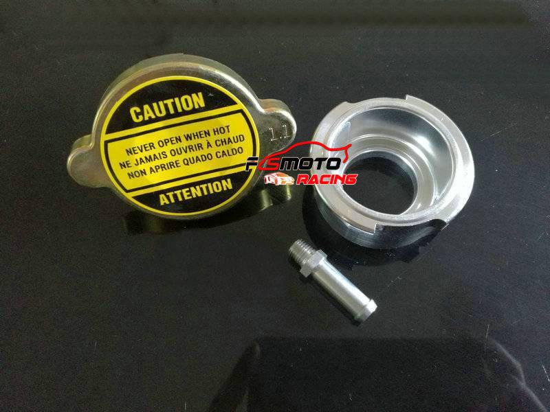 Weld On Radiator Filler Neck Billet Aluminum &1 Free Radiator 1.1pa Cap NEW