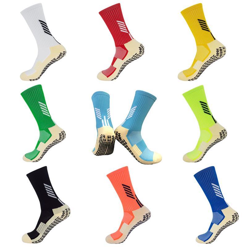 Unisex Adults Anti Slip Soccer Socks Nylon Non Slip Football Basketball Hockey Socks Wear Resistant Sports Grip Socks
