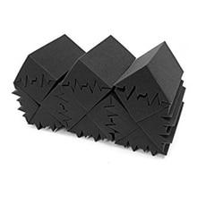 Nouveau 8 Pack de 4.6 po X 4.6 po X 9.5 po noir insonorisation isolation basse piège acoustique mur mousse rembourrage Studio mousse carreaux 8 P