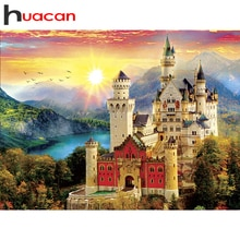 Huacan Diamant Kunst Malerei 5d Landschaft Voll Platz/Runde Bohrer Diamant Stickerei Burg Mosaik Berg Handwerk Wohnkultur