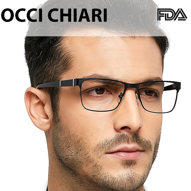 OCCI CHIARI Men Glass Frame Metal Computer Glasses Prescription Myopia Eyewear Nerd Optical Spectacle Small Size Vintage OC3113