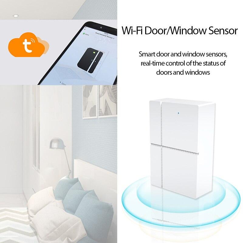 Смарт-детекторы открывания/закрытых дверей Tuya/Smart life, дистанционное управление через приложение, дверной датчик работает с Alexa Google Home смарт детекторы tuya для открывания закрытия дверей совместимые с alexa google home tuya работает со шлюзом zigbee3 0