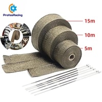 car motorcycle 5101520m exhaust thermal exhaust tape exhaust heat tape wrap pipe wrap shields manifold header insulation roll