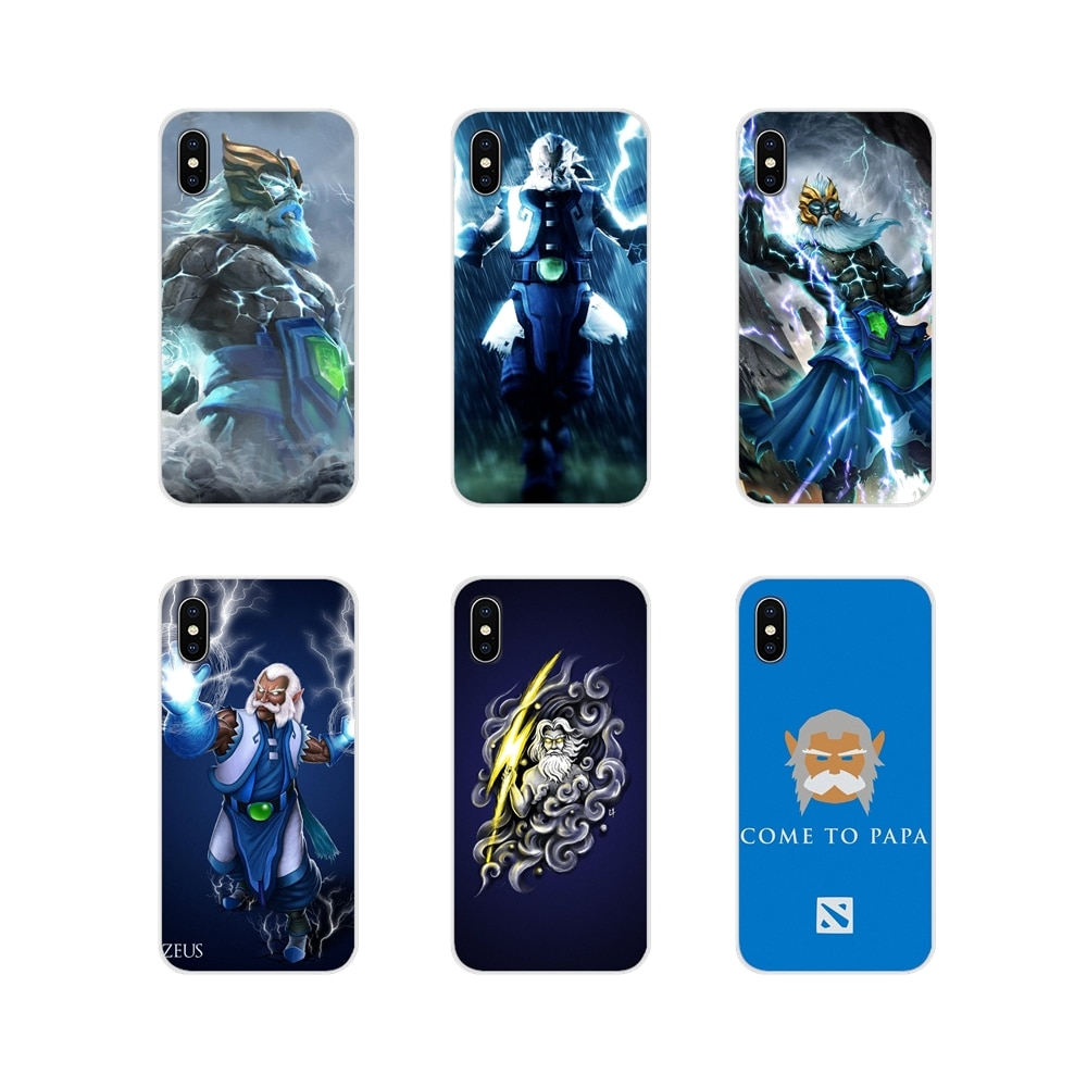 Juego dota 2 zeus para Apple ipod touch 5 iPhone 6 X XR XS 11Pro MAX 4S 5S 5C SE 6 6S 7 8 Plus accesorios cubiertas de los casos del teléfono