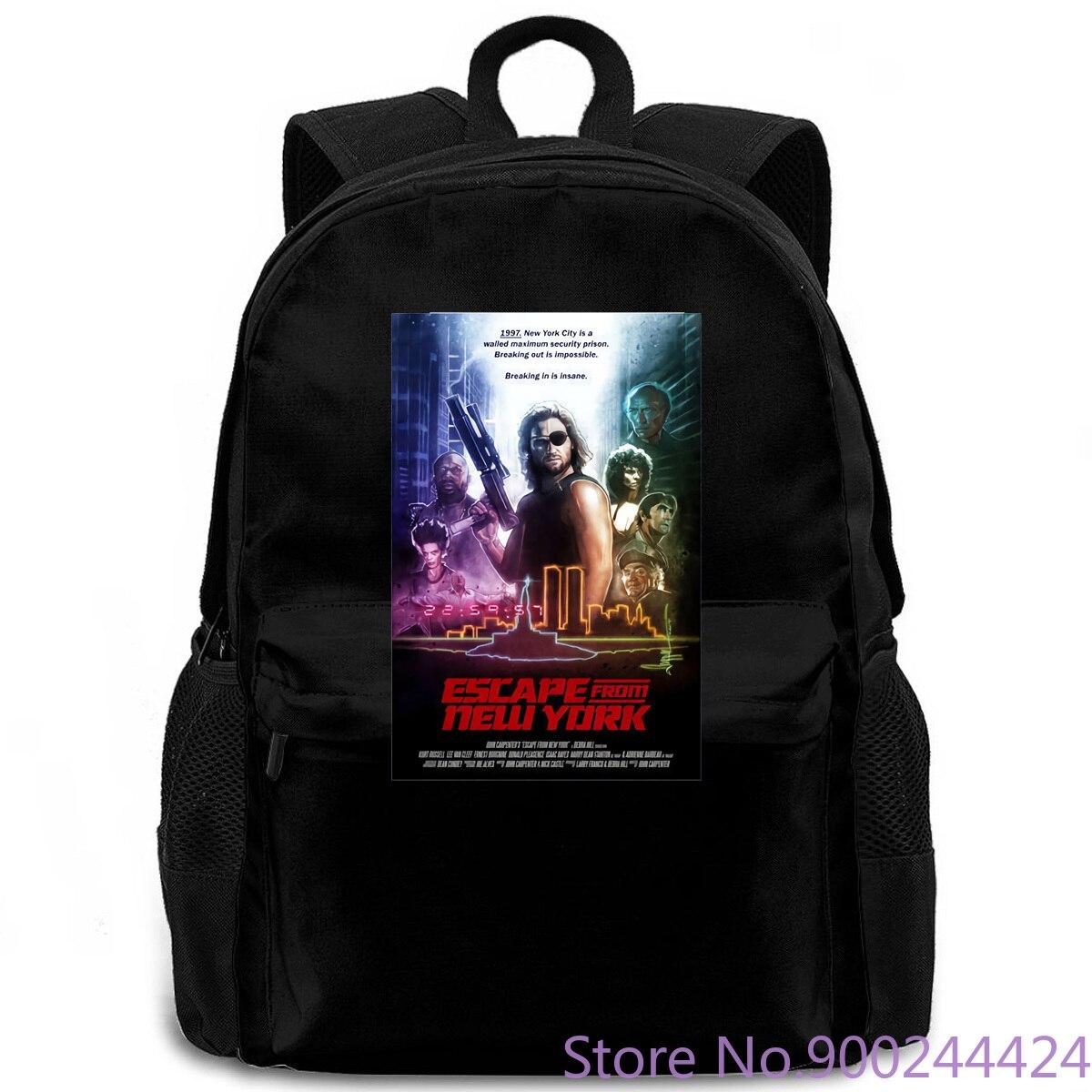 Escape de la película blanca de Nueva York, póster all s, mochila para hombre y mujer, mochila para ordenador portátil, viaje, escuela, estudiante adulto