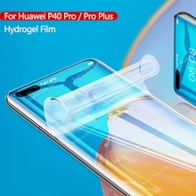 Para Huawei P40 Pro Plus Protector de pantalla pegamento total película de hidrogel para Huawei P 40 P40Pro Plus Pro + película protectora de cubierta completa