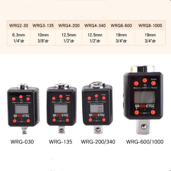 عالية الدقة الرقمية Torquemeter WRG4-200 2-030 3-135 4-340 6-600 1.5-30NM 6.8-135NM 10-200NM 60-600NM 100-1000NM 17-340NM