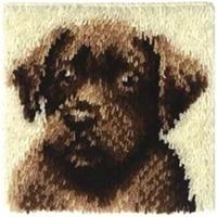 hot latch hook pillow kits dog new diy needlework crocheting rug kits handmade embroidery unfinished pillowcase
