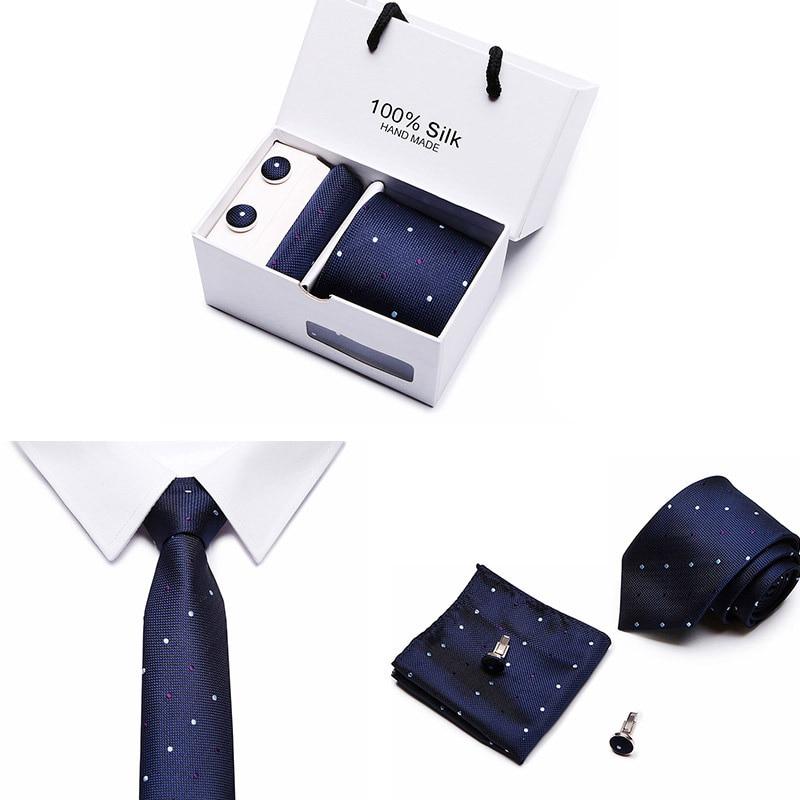 Set de corbatas para hombre tamaño Extra largo 145cm * 7,5 cm corbata azul marino seda Paisley estilo Jacquard tejido cuello traje boda fiesta Dropshipping