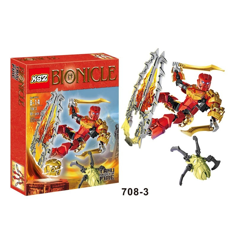 Bioniclemask XSX 708-3 70787 Tahu Master of Fire Bionicle Building Blocks Compatible With Lepining Toys For Children