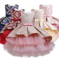summer baby girl infantil lace princess tutu dress kids dresses for girls retro embroidery party birthday dress christmas