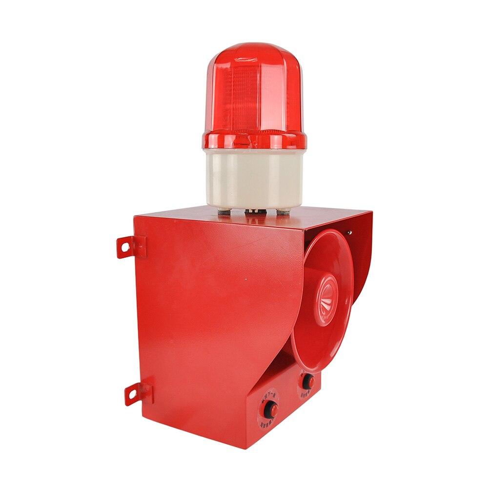 Alarm Sirene YS-05B 220V Strobe Sicherheit System 130dB Warnung Signal Alarm Mit Einstellbare Mengen Und Töne