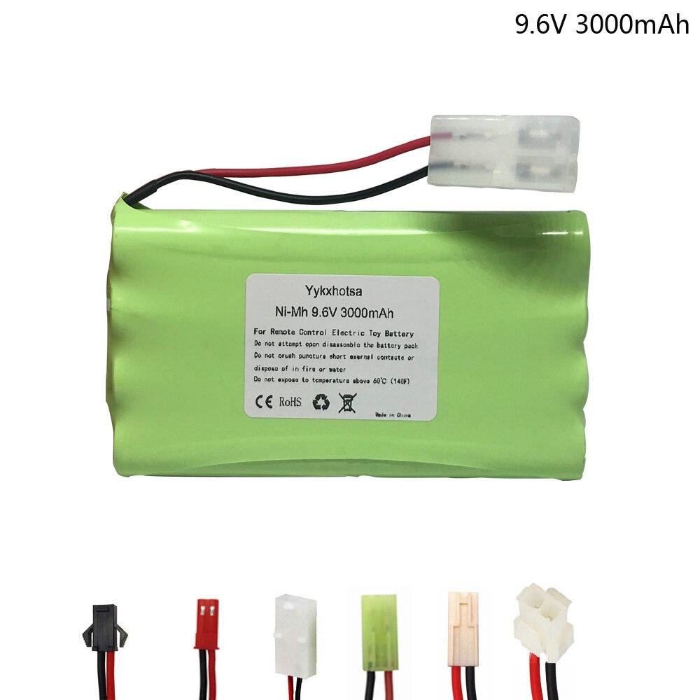 9.6V 3000mAh NI-MH battery 9.6V nimh AA battery for RC toys Car Tanks Trains Robot Boat Gun tools SM