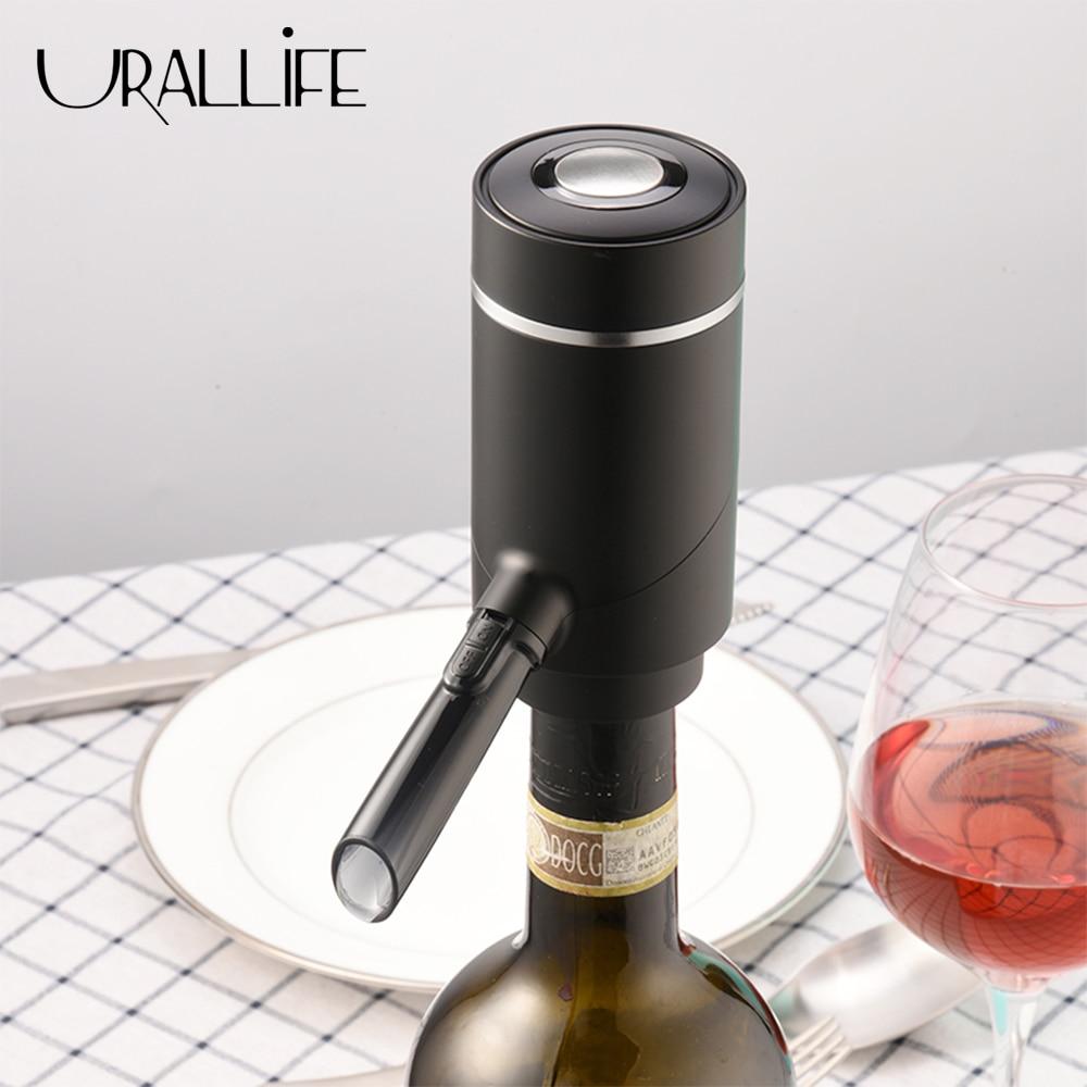 Urallife-دورق نبيذ أحمر كهربائي 2 في 1 ، أوتوماتيكي ، سريع ، فعال ، للمطبخ والحفلات