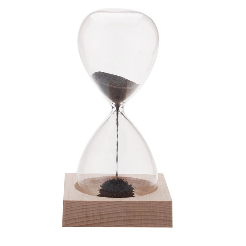 1 Uds reloj de arena neto Awaglass reloj de arena soplado a mano decoración de escritorio reloj de arena magnético negro