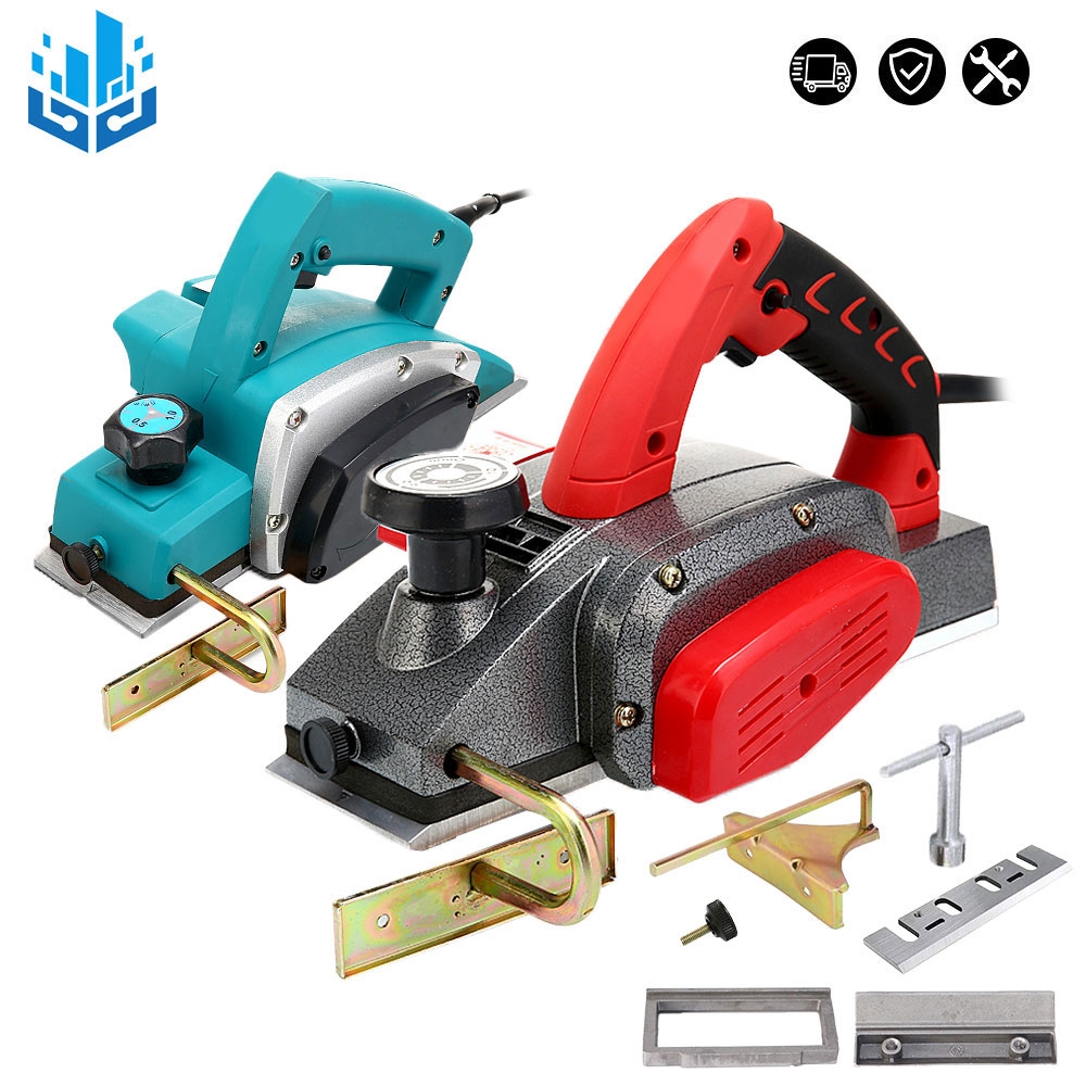 220V Electric Hand Planer.Red Electric Planer 2mm 1600W .Blue Electric Planer 1mm 1200W. Multifunctional Wood Cutting Power Tool