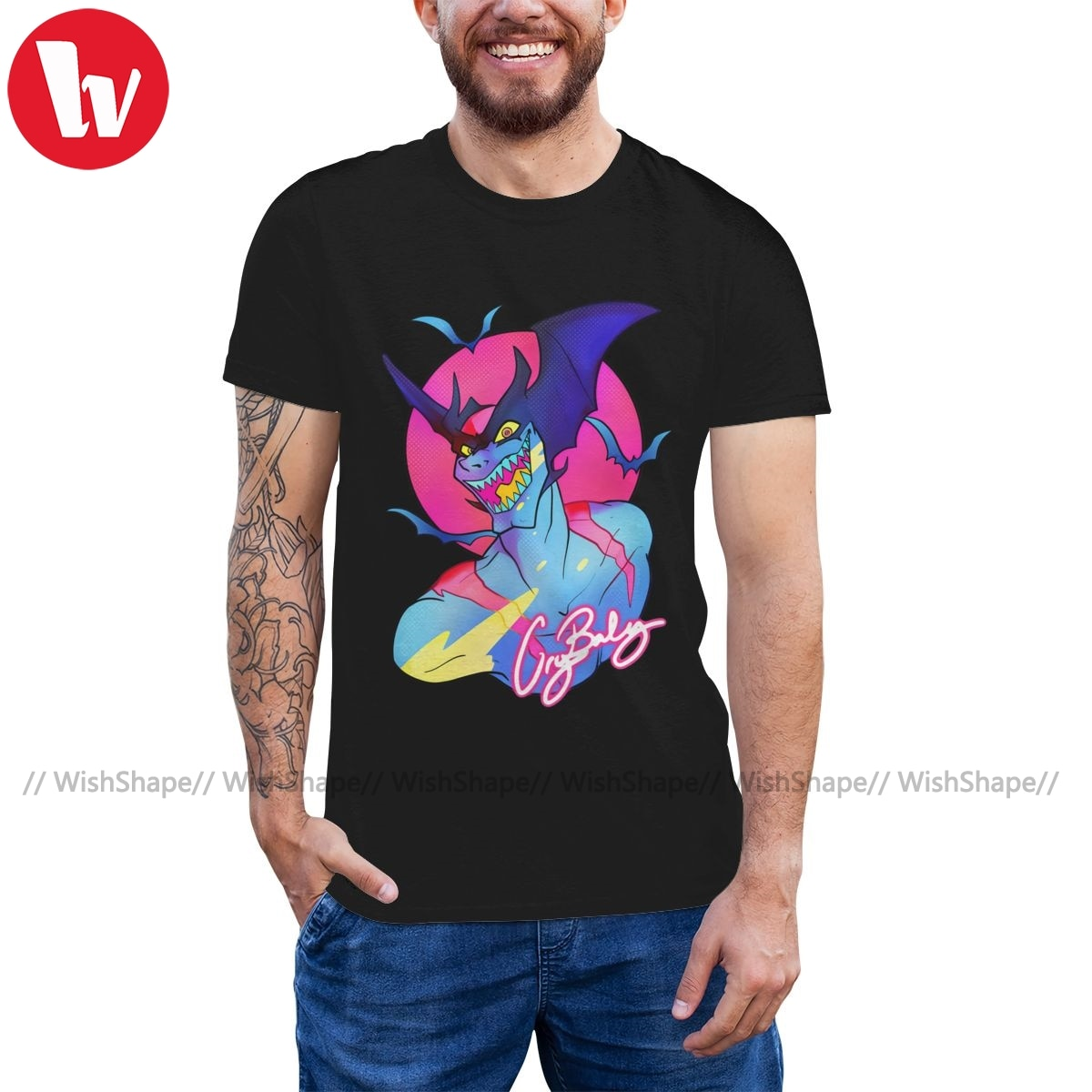 Camiseta Devilman, camiseta CRYBABY DEVILMAN, camiseta de playa impresionante, camiseta de manga corta de gran tamaño