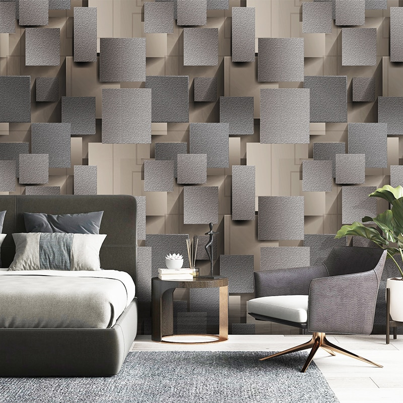 Modern 3D Lattice Non-woven Suede Wallpaper For Walls Roll Papel De Parede 3D Living Room Bedroom TV Background Wall Paper Decor beibehang papel de parede 3d warm bedroom non woven wall paper three dimensional rural wallpaper for walls 3 d wall paper