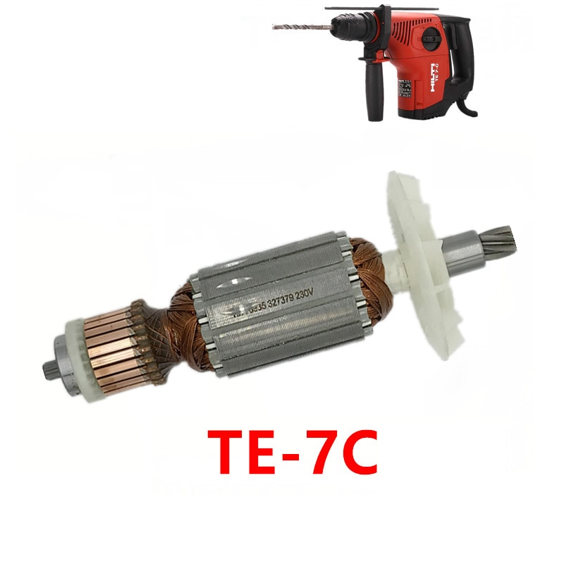 Interruptor de rotor de martelo elétrico, para hilti TE7-C, rotor elétrico, furadeira de impacto, martelo elétrico, peças originais, rotor, interruptor