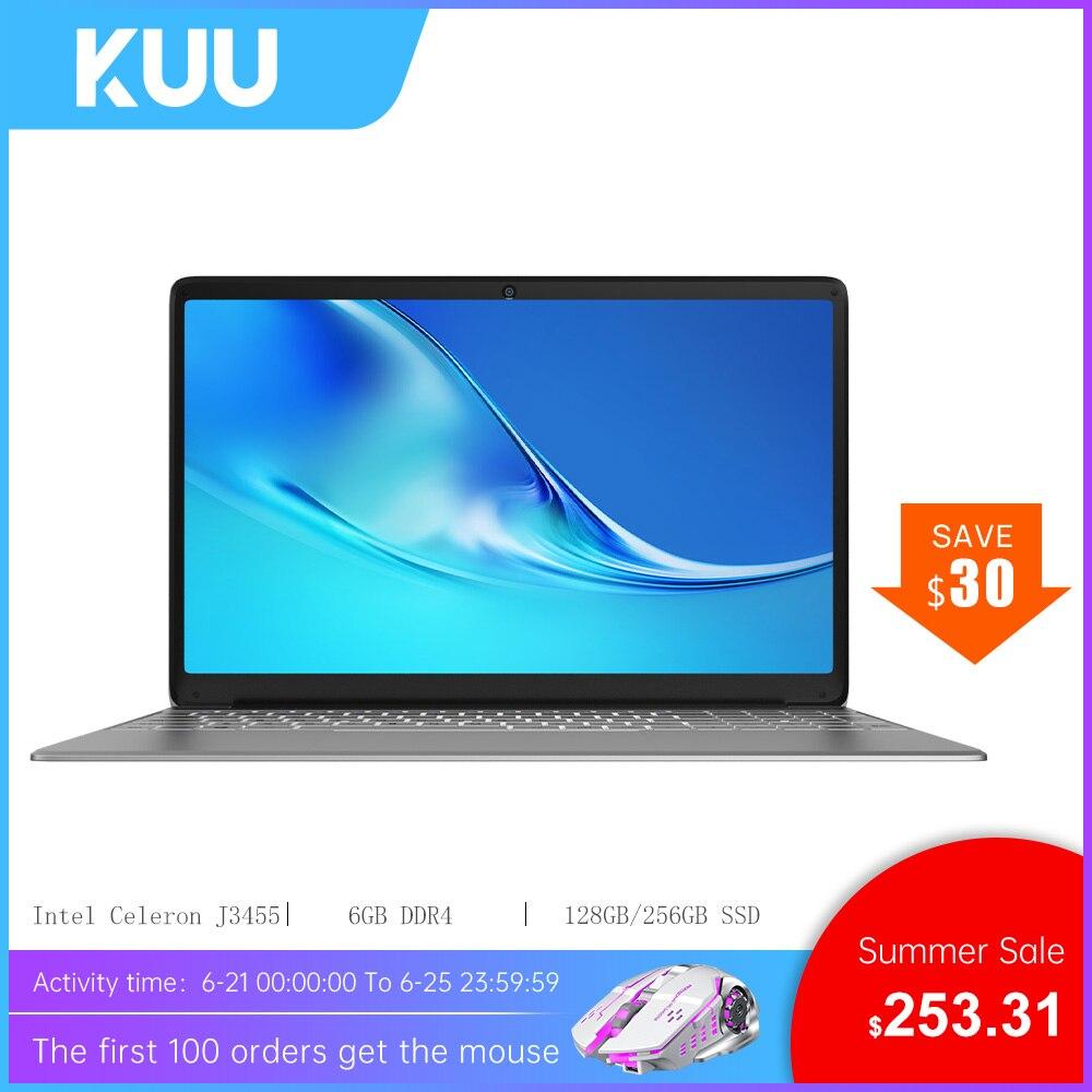 AliExpress - Laptop KUU A8S, 15.6″ FHD (1.920×1.080) IPS, 16:9, Intel Celeron J3455, 6GB RAM, 256GB SSD, HD Graphics 500, Windows 10