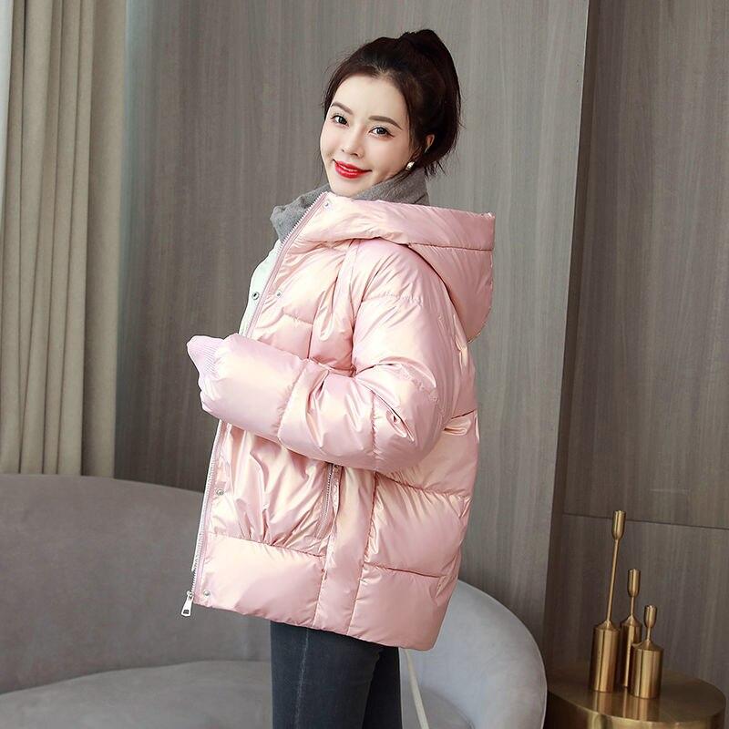 Парка женская длинная, Короткие пальто, куртки, зима 2021, новая модная теплая парка на хлопковом наполнителе с капюшоном, Женская куртка