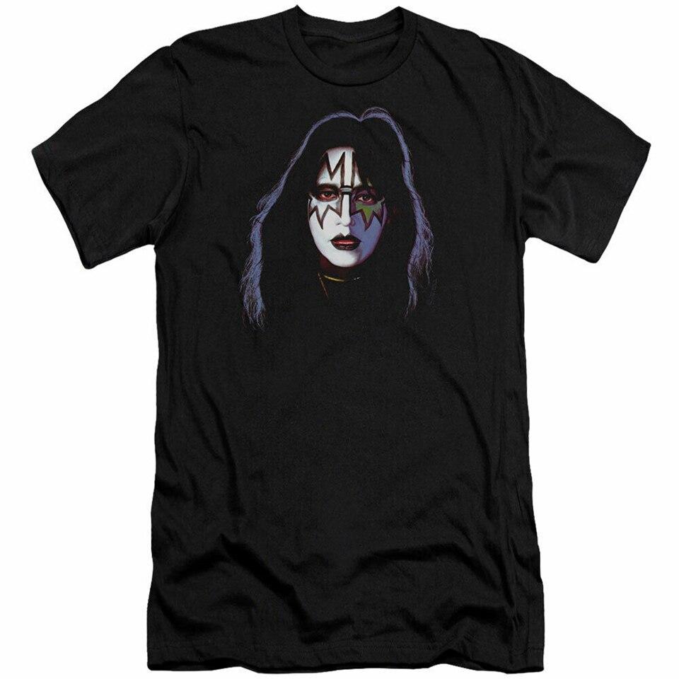 Kiss MenS Ace Frehley cubierta Slim Fit camiseta x-large negro de talla grande ropa camiseta