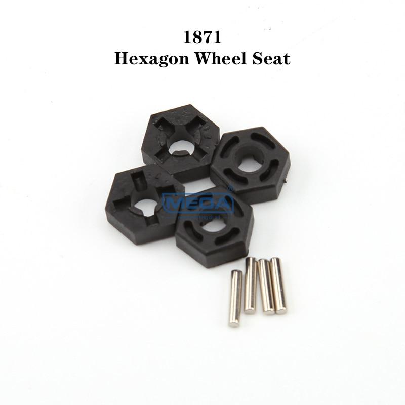 WLtoys RC Car 1/10 Spare Parts Set 104001-1871  Hexagon Wheel Seat Adaptor Assembly Original Accesso