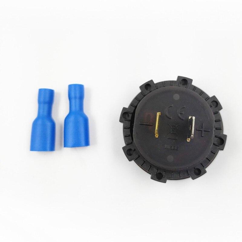 Useful Digital Voltage Voltmeter Monitor Display Voltmeter Mini Panel LED 4-35V Round Automatic Boat Motorcycle