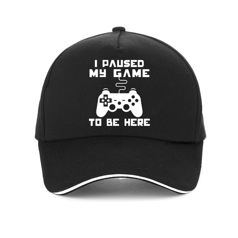 AliExpress - Gamer baseball cap Men I Paused My Game To Be Here Tops Interesting Play Computer hat High Quality snapback hats bone