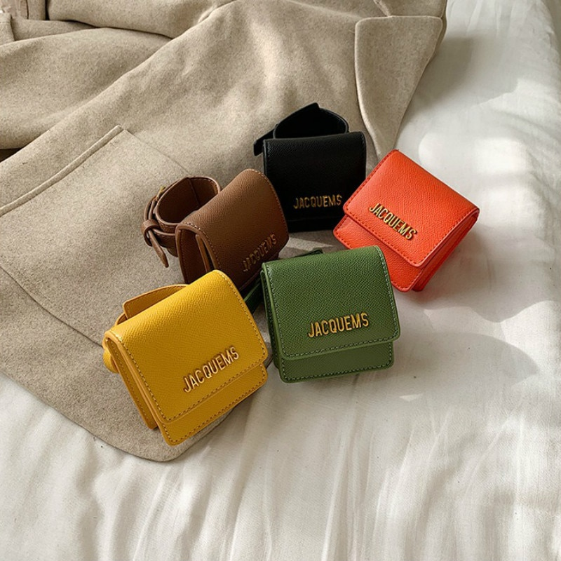 Women Hand Bag 2020 New Famous Brand Designer Fashion Arm Belt Bag Mini Square Clutch Bag Vintage Wrist Bag Letter Coin Purse