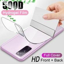 500D dos Hydrogel Film pour Samsung Galaxy S20 S10 S9 S8 Plus Note 10 Pro 20 Ultra protecteur décran pour Samsung A51 A71 S20 fe