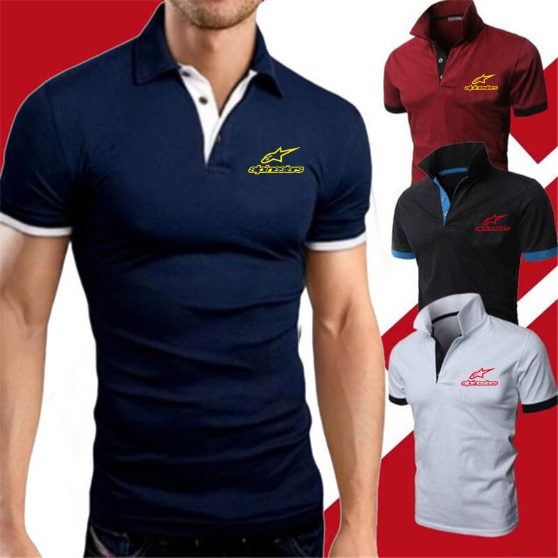 Camiseta Polo Alpine stars 2020 para hombre, camisas de marca para hombre, ropa de moda de verano de manga corta, azul, rojo, amarillo, estampado Alpinestar para hombre