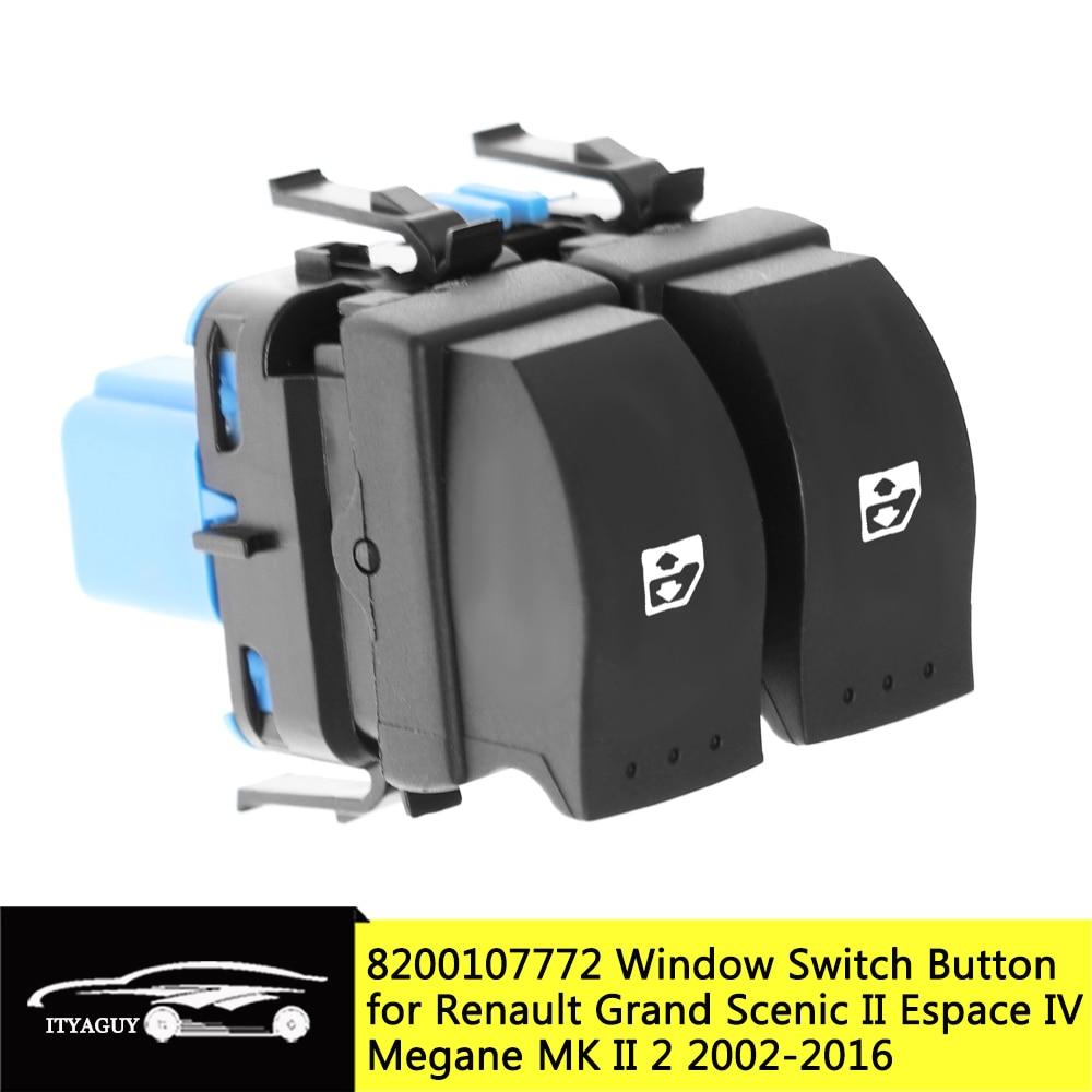 8200107772 10 pinos de energia elétrica janela levantador botão interruptor para renault espace iv scenic ii megane mk ii 2002-2016 8200 107 772