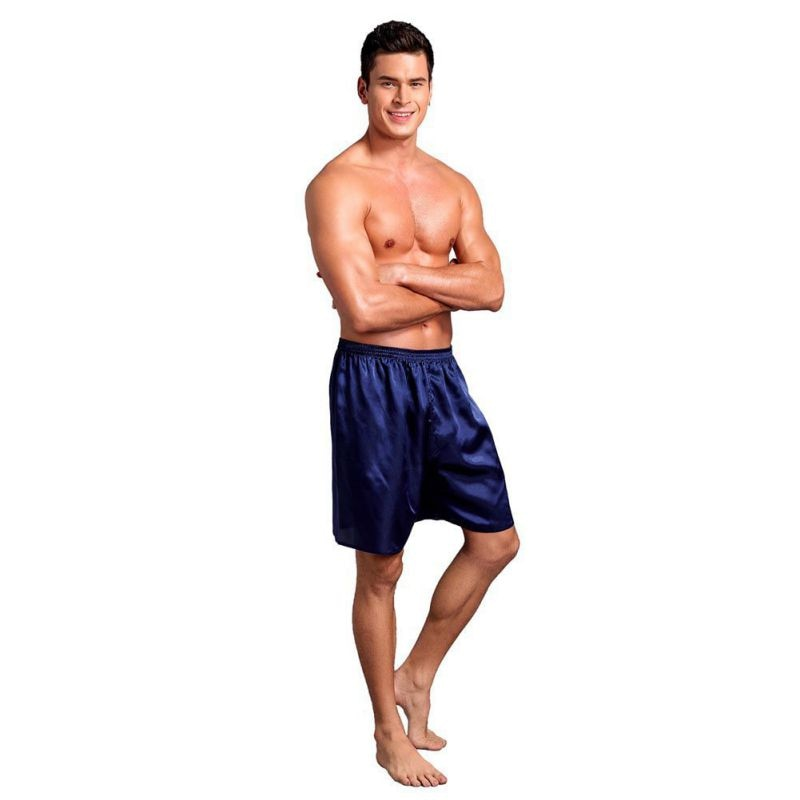 Men Pajama Shorts Sleep Bottoms Solid Lounge Short Pants Soft Summer Sleeping Shorts Home Pajama Pan