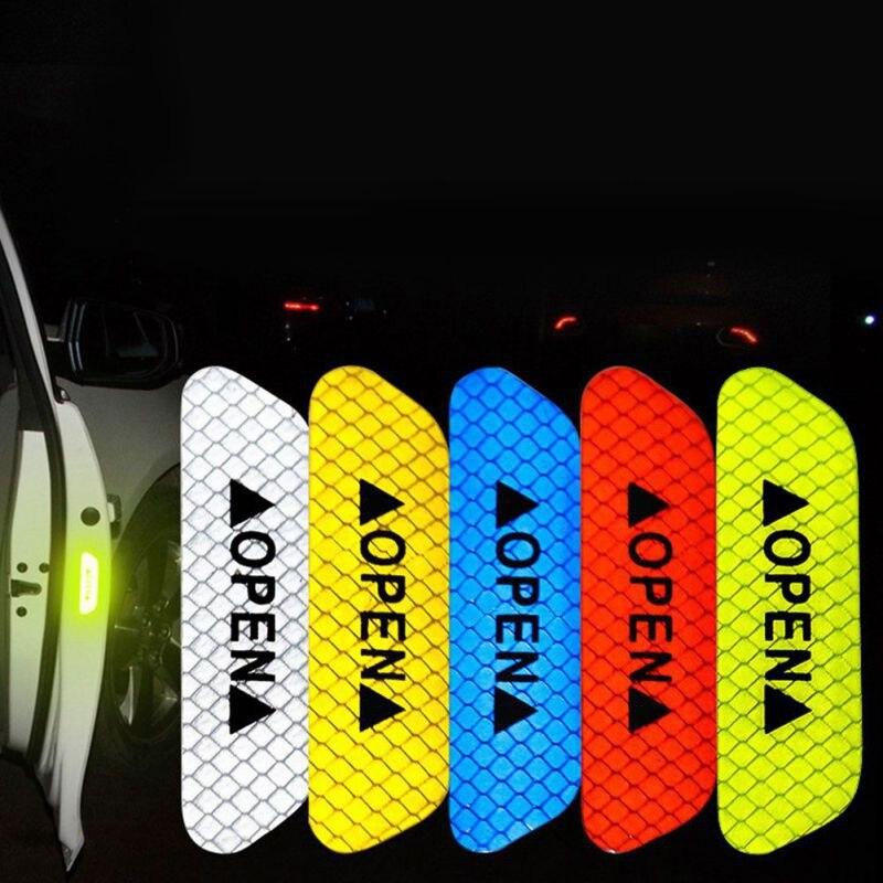 Наклейки на двери автомобиля, открывающаяся светоотражающая лента, предупреждающая отметка для Fiat 500 Panda Punto BravoCar Duster Alfa Romeo 147 156 166 GT JTD TS