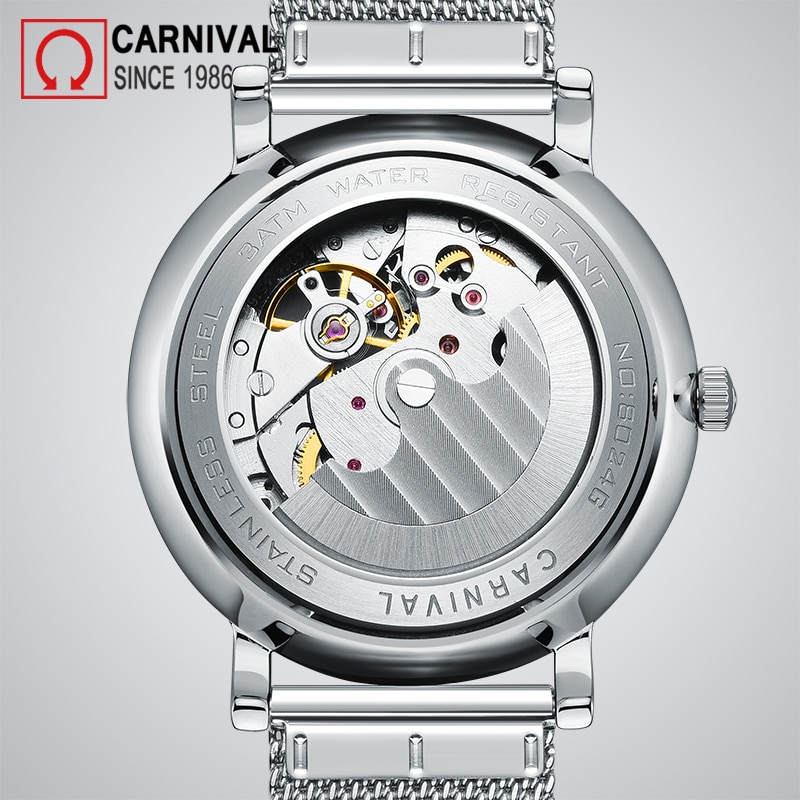 Carnival Brand Fashion Mechanical Watch Man Luxury Waterproof Hollow Sapphire Casual Automatic Wristwatch 2021 Relogio Masculino enlarge