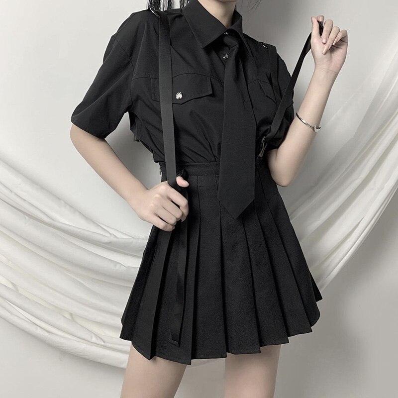 Faldas Harajuku para mujer, faldas plisadas de cintura alta de verano 2020, estilo gótico Punk, moda Grunge, minifaldas de calle para mujer