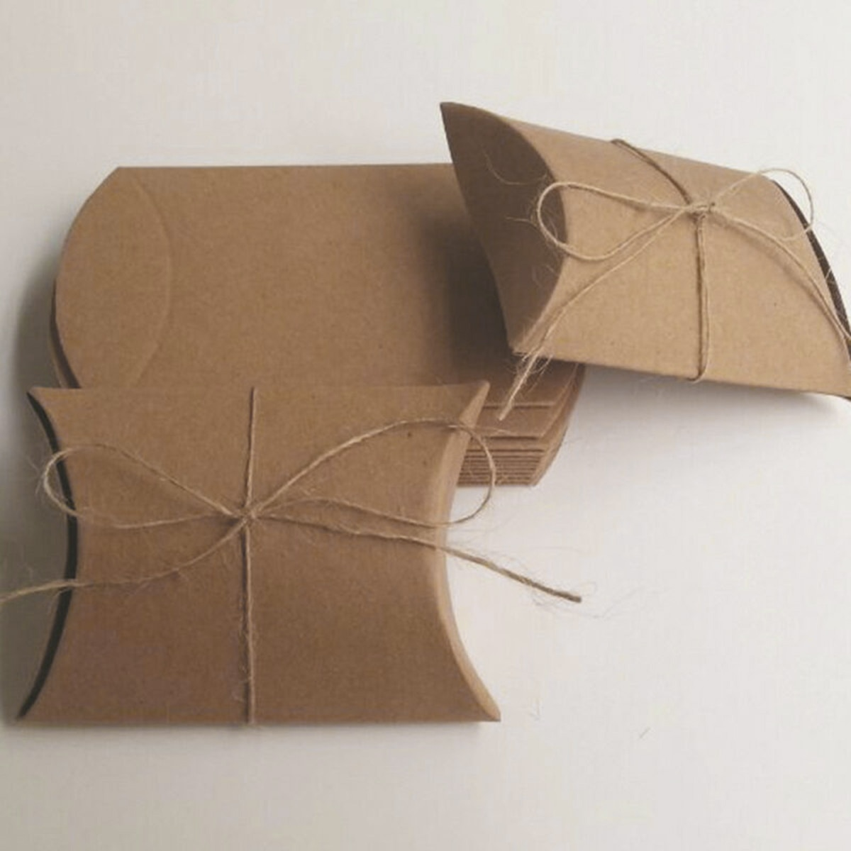 Коричневый конфетная коробка, 50 шт в наборе, крафт-бумаги Бумага подарочные свадебные сувениры пеньковая веревка для хранения