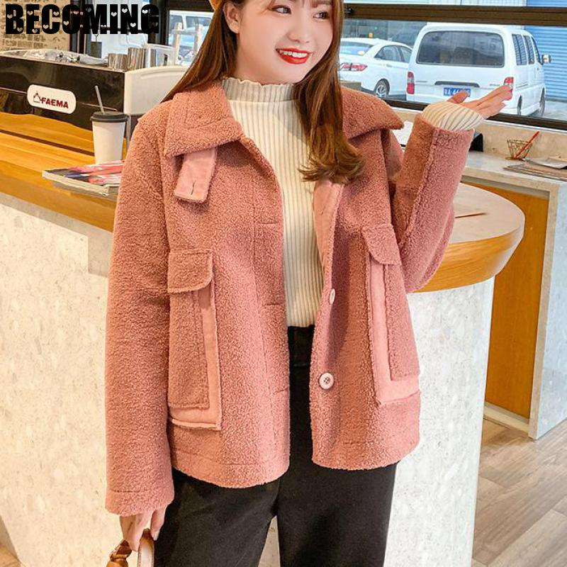 Big Plus Size suit Winter Maternity Women's Spring Pregnant Coat Korean Loose Lamb Wool Pregnancy Thick Coat Nurse Clothes 16774 enlarge