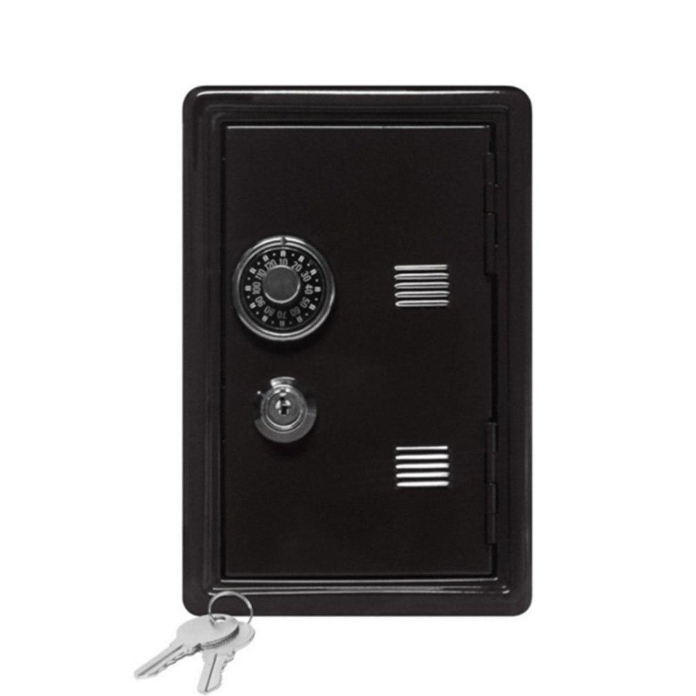 Household InsuranceBox Mini Metal Safe Creative Piggy Bank Key Insurance Cabinet Desktop Decoration LESHP