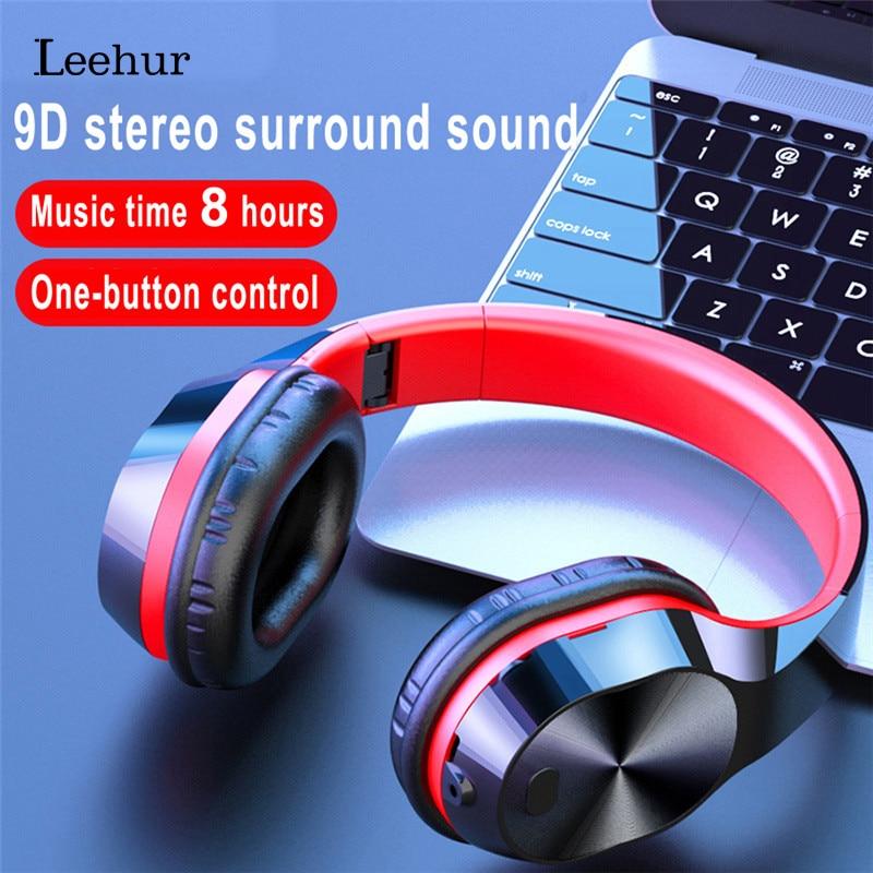 Leehur 9D стерео объемные наушники, наушники Bluetooth 5,0, Беспроводная музыкальная гарнитура с микрофоном, поддержка tf-карты, MP3 fone de ouvido
