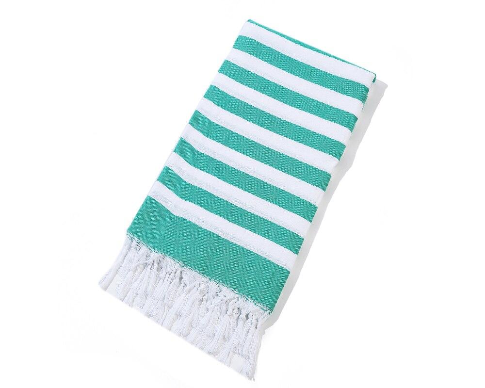 Striped Cotton Turkish  Bath Towel with Tassels Spa Sauna Hammam Yoga Gym Hamam Towel Fouta Peshtemal Pestemal Blanket 100x180cm