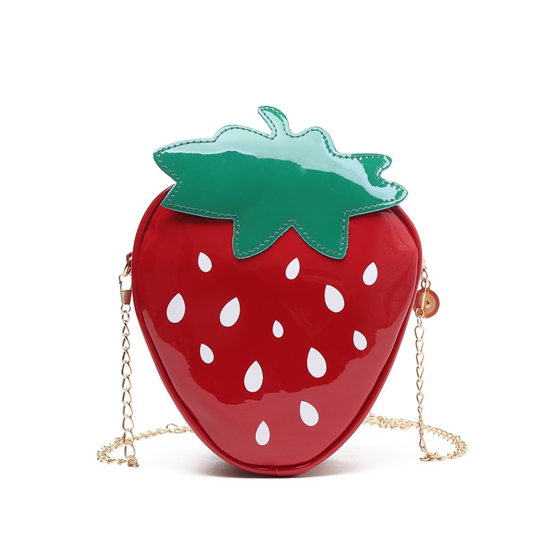 Sweet Lolita Bag Fruit Pattern Red Strawberry Lolita Shoulder Bag
